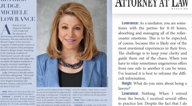 Judicial Profile – Attorney at Law Magazine, 2015